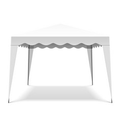 white pop up gazebo canopy folding tent vector image vector image