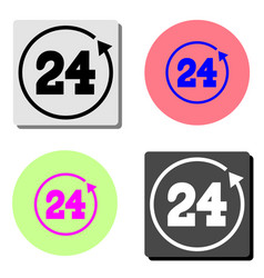 24 hours rotation flat icon vector image