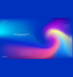 Abstract blurred holographic background vector