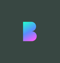 Abstract colorful gradient letter b logo icon vector