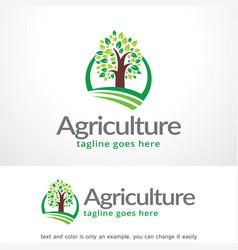 Agriculture logo template design emblem design vector