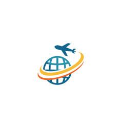 air plane logo vector image