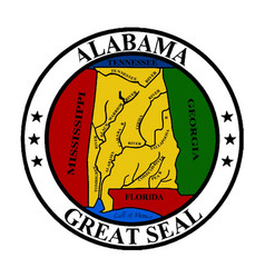 Alabama state seal vector