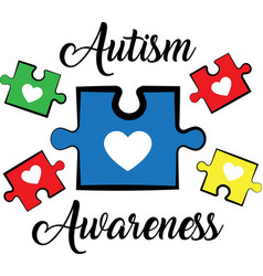 Autism awareness on white background vector