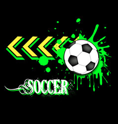 Background abstract soccer ball from blots vector