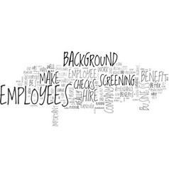 background checks how they can help your business vector image
