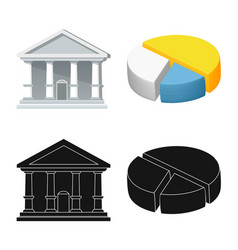 bank and money sign vector image