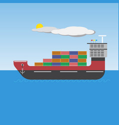 Big ship picture vector