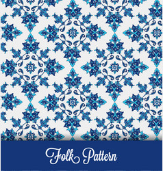 Blue-folk-seamless-pattern vector