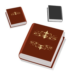 Book with gold ornament on the cover vector