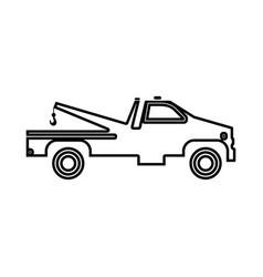 breakdown truck black icon vector image