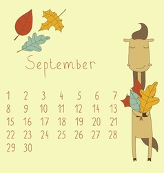 Calendar for September 2014 vector image