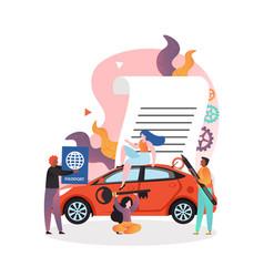 car rental concept for web banner website vector image