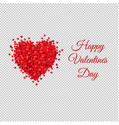Card with red heart transparent background vector