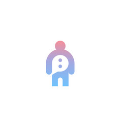 chat support bot logo design flat gradient vector image