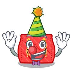 Clown fashion bag shoulder on women cartoon vector