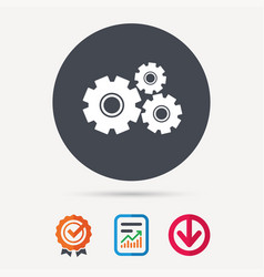 cogwheels icon repair service sign vector image