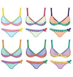 Collection of bikini designs vector image