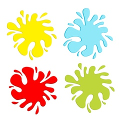 Colorful blot splash set Inkblot vector image