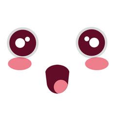 comic kawaii face emoticon vector image