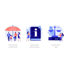 Consumer protection concept metaphors vector