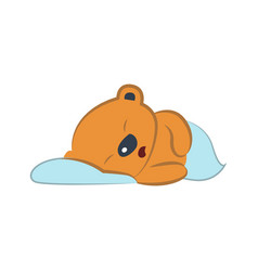 Cute bear sleeping vector