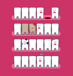 dental problems infographics vector image