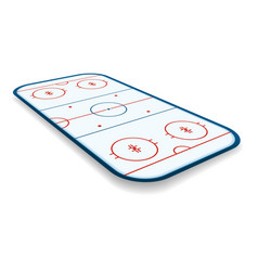 detailed a icehockey rink field court vector image