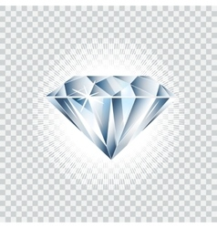 Diamond realistic Brilliant vector image