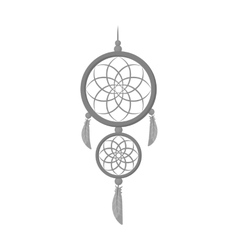 Dreamcatcher icon in monochrome style isolated on vector image
