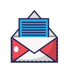 E-mail letter message with business document vector