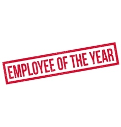 Employee Of The Year rubber stamp vector