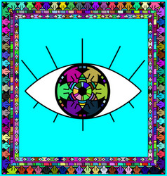 Frame and eye vector