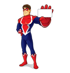 friendly superhero identity vector image