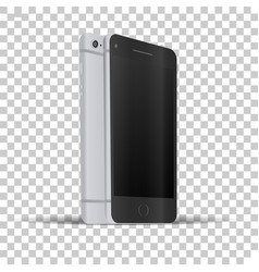 front and back view of phone vector image