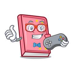 Gamer diary mascot cartoon style vector