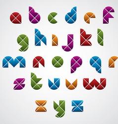 Geometric modern style digital letters alphabet vector image
