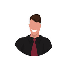 happy businessman face avatar business man office vector image