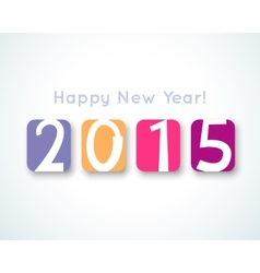 Happy New Year 2015 banner for holiday vector image