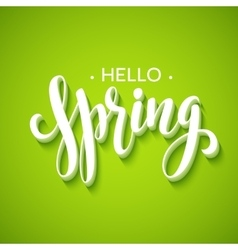 Hello Spring lettering design vector