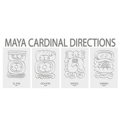 Icon set with maya cardinal directions vector