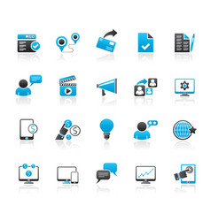 Internet marketing and commerce icons vector