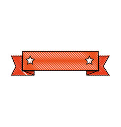 isolated ribbon banner vector image