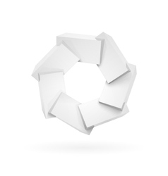 Join white shiny glossy plastic cubes vector