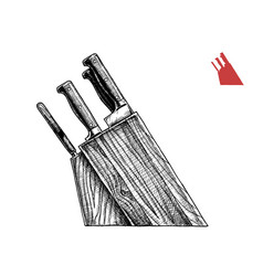 knife block vector image