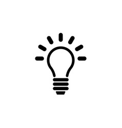 Lamp light bulb idea flat icon vector