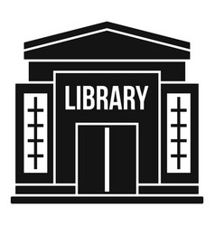 Library building icon simple style vector