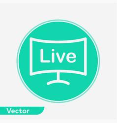 live icon sign symbol vector image