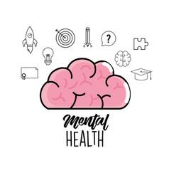 Mental health to creative process design vector