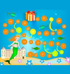 mermaid boardgame vector image